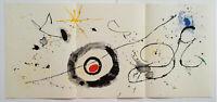Joan Miro Original Stone Lithograph Derriere le Miroir Triple Sheet 1963