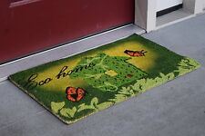 """Vinyl Backed Eco Home Printed Coco Doormat 0.5"""" Thick - 18 by 30-Inch"""