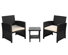 New Listing3 Pieces Patio Furniture Sets Outdoor Patio Set Wicker Bistro Set Rattan Chair