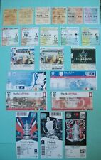 Arsenal F A Cup final Tickets from 1927-2017 complete set of all AFC cup finals.