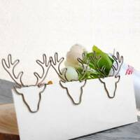 8pcs/box Vintage Golden Deer Paper Clips Bookmarks Stationery Office Accessories