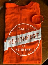 RALLY HEALTHFEST Kevin Hart size Small T-Shirt, 2 Wrist Bands, CoolFiber Towel