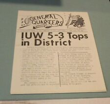 1970 Us Navy Inshore Underwater Warfare Division Newspaper Fort McHenry Balt Md