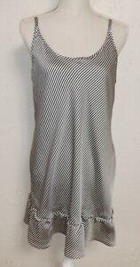 Morgan Taylor Intimates Black and Silver Stripe Sleepwear Size L