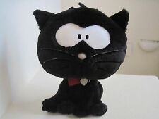 "Aeropostale BLACK CAT 13"" Love Heart Collar  Plush Stuffed Animal"