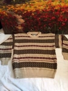 Sweater Aeropostale Vtg Compagnie Generale - Chunky Cotton Knit Made in USA - L