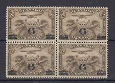 C3 airmail 6c on 5c overprint BLOCK of 4 Cat $160 VF MNH Canada mint