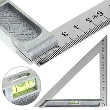 200mm Triangle Ruler 90° Alloy with Horizontal Bead Woodworking Measuring Tool