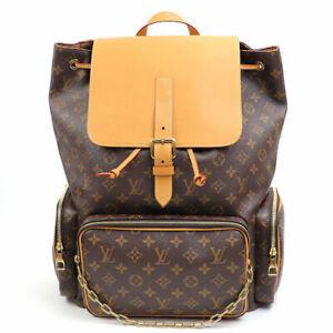 Louis Vuitton Trio Backpack Bag Virgil M44658 Gold Chain Monogram New w invoice