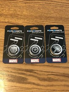 Authentic PopSockets Marvel Captain America / Thor / Black Panther / Pop Sockets