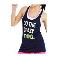 Lorna Jane Womens 'DO THE CRAZY THING' Tank Singlet Vest With FAULTY Size XS