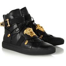 Luxe patadas Versace £ 900 Cuero Medusa Hi-Top Zapatillas Sneakers New IT35.5UK2.5