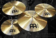 Meinl Byzance Traditional Cymbal Set 14H/16C/20R w/ FREE 18 Crash - Video!