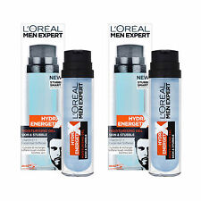 2 x L'Oreal Men Expert Skin & Stubble Moisturising Gel 50ml With Vitamin E