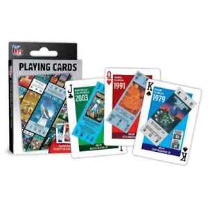 Super Bowl Ticket Playing Cards