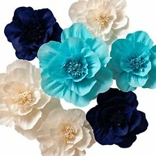 Paper Flower Decorations, Crepe Paper Flowers, Giant Paper Flowers, Set of 7