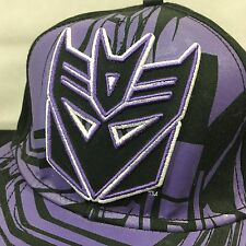 Transformers Decepticons Hat Megatron One Size Black Purple  Optimus Prime