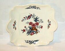 Wedgwood Keramik * Potpourri * Kuchen-Platte Eckig Cake Plate Blumen Vogel 12018