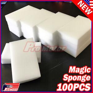 Lot 100pcs Magic Sponge Eraser Melamine Cleaning Foam Thick Home Washing Tool