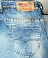 *HOT AUTHENTIC Men's DIESEL @ THAVAR Art 884C Slim SKINNY DISTRESS Jeans 28 x 30