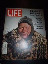 Old LIFE Magazine December 4, 1970 Stalin's War - NFL Football Oakland Raiders