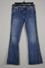 Silver Frances Womens W27/L31 Denim Jeans Boot Cut Actual W 28 x I 30 3/4