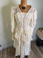 Vintage Victorian Wedding Gown Carole Lee Small Antique Dress Burlesque England