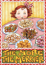 MORE THE MERRIER Cookies-Handcrafted Christmas Magnet-W/Mary Engelbreit art