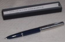 "PARKER ""21"" Fountain Pen, c.1948-56, Blue w/Stainless Cap, Aerometric Filling"