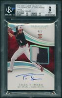 2016 Panini Immaculate TREA TURNER GOLD PATCH /5 AUTO ROOKIE BGS 9 Highest [BBE]