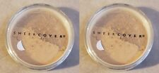 2 x Sheer Cover ALMOND Mineral FOUNDATION SPF-15 LARGE FULL SIZE 4g NEW&SEALED!