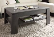 Coffee Table with Shelf Ash Wood Grey Living Room Side Universal