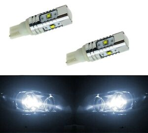 LED Light 30W 168 White 5000K Two Bulbs Front Side Marker Parking Stock Fit T10