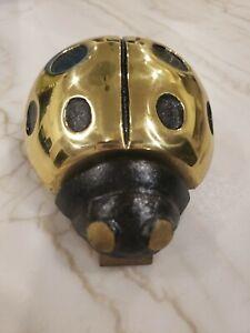 Rare Michael HealyBrass Ladybug Door Knocker, Artist Name Engraved
