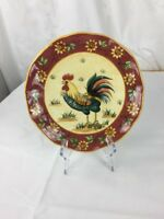 "Ceramic Handpainted  Rooster Dinner Plate 10""x 10"""