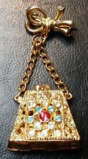 Vintage Miniature Purse Brooch / Pin - Great Gift Idea