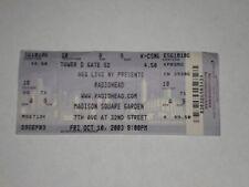 Radiohead Concert Ticket Stub-2003-Hail To the Thief-Madison Square Garden-Ny