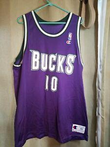 Rare Vintage Todd Day 10 Milwaukee Bucks NBA Champion Jersey Size 48