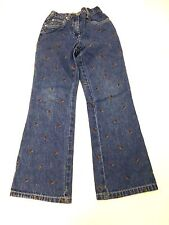 Vintage Gymboree Girls Size 9 Floral Embroidered Blue Jeans Great Condition