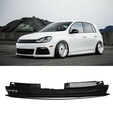 Front Badgeless Debadged Black Sport Grill For VW GOLF GTI JETTA  MK6 2008-on
