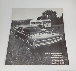 "1970 Chrysler Plymouth ""Cars with Pull"" Brochure Fury Barracuda Valiant Belve..."