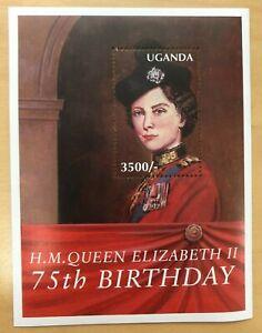 Uganda 2001 - QUEEN ELIZABETH 75th - Souvenir Sheet (Scott #1731) - MNH