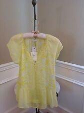 NWT Joie $228 Acid Lime Anerae Blouse Size XS