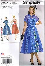 Vtg 50s Strap Dress Full Gathered Skirt Sheer Coat Sewing Pattern 12 14 16 18 20