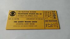 """CBS Television Network """"The Gary Moore Show"""" Show Ticket, 1953"""