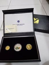 2014 Malaysia 75th Anni National Park Proof Coin - Set 3 in 1