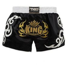NWT TOP KING MUAY THAI BOXING SHORTS RETRO STYLE BlackGold Sz M