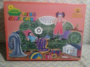 Vintage 1995 The Big Comfy Couch Jumbo Floor Jigsaw Puzzle by Fundex complete