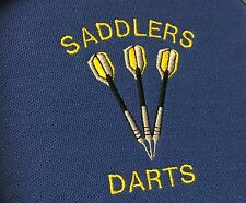 Personalised Embroidered Darts Polo Shirt with Name Printed On Collar