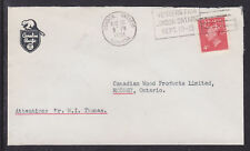 Canada Sc 287 used on 1951 Canadian Pacific Railroad Cover